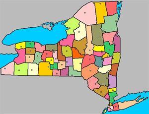 Mapa interactivo de Nueva York: condados y capitales (luventicus.org)