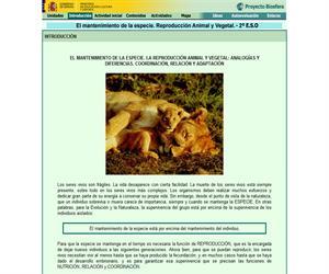 El mantenimiento de la especie. Reproducción animal y vegetal (Proyecto Biosfera)