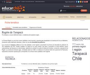 1era Región Estadísticas (Educarchile)