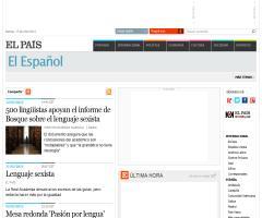 El Español en el periódico El País