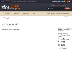 Julito nerudiano (II) (Educarchile)