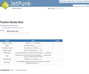 Taxation Quotes Quiz