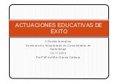 Seminario Voluntariado Comunidades de Aprendizaje: Actuaciones educativas de éxito   (Mª del Mar García) Universidad de Córdoba