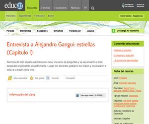 Entrevista a Alejandro Gangui: Estrellas (Capítulo I)