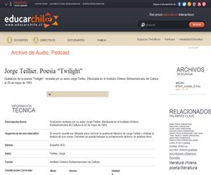 "Jorge Teillier. Poesía ""Twilight"" (Educarchile)"