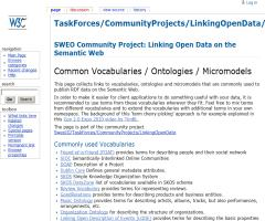 Common Vocabularies / Ontologies / Micromodels
