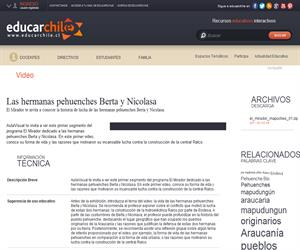 Las hermanas pehuenches Berta y Nicolasa (Educarchile)