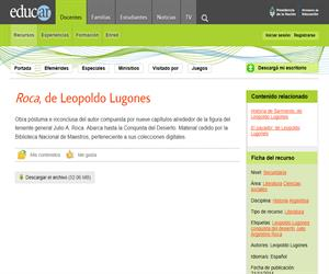 Leopoldo Lugones: Roca