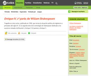 William Shakespeare: Enrique IV