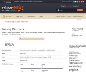 Listening: Directions 4 (Educarchile)