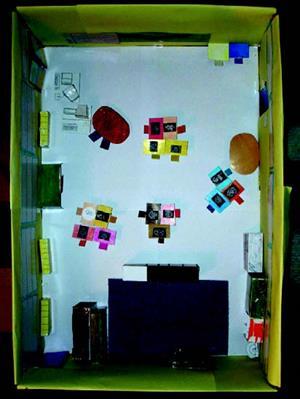 Maquettes et plans de la classe et de l'école
