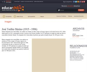 José Toribio Merino (1915 - 1996) (Educarchile)