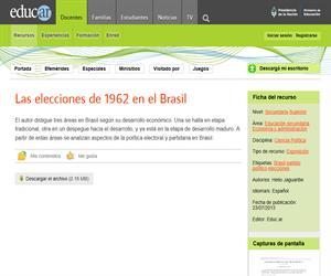 Las elecciones de 1962 en el Brasil