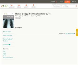 Human Biology Breathing Teacher's Guid?