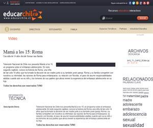Mamá a los 15: Roma (Educarchile)