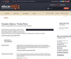 Grandes chilenos. Violeta Parra (Educarchile)