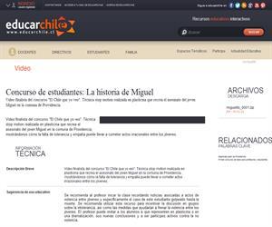 Concurso de estudiantes: La historia de Miguel (Educarchile)