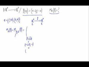 Matriz de un aplicación lineal respecto de la base canónica