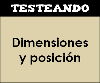 Dimensiones y posición. 1º Primaria - Matemáticas (Testeando)