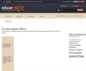 Cantores populares (Educarchile)
