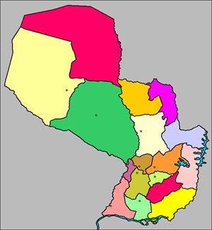 Mapa interactivo de Paraguay: departamentos y capitales (luventicus.org)