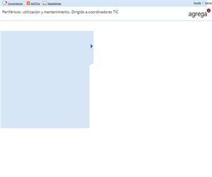 Periféricos: utilización y mantenimiento. Dirigido a coordinadores TIC (Proyecto Agrega)