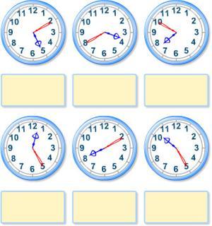 ¿Qué hora es? en un reloj de agujas (educaplus.org)