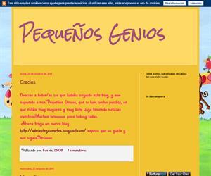 Pequeños Genios (Blog Educativo de Educación Infantil)