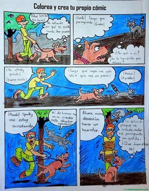Expresión escrita: el cómic. Editorial Anaya