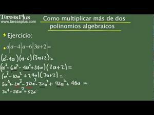 Cómo multiplicar más de dos polinomios algebraicos. Problema 10 de 15 (Tareas Plus)