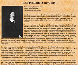RENE DESCARTES (1595-1650)