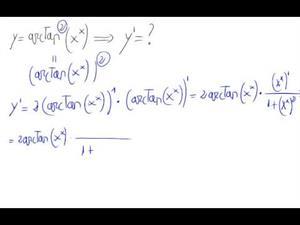 Derivada - Función elevada a una función