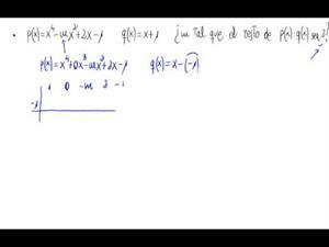 Valor de un parámetro y resto de una división de polinomios