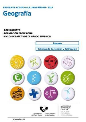 Examen de Selectividad: Geografía. País Vasco. Convocatoria Junio 2014