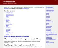 Fuente de datos abiertos en España (Pro Bono Público)