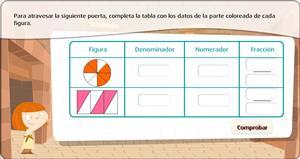Juego de fracciones: representación gráfica y analítica