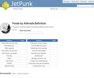 Foods by Alternate Definition
