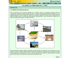Los cambios en el medio natural (II): unidad de Biología y Geología de 4º ESO (proyecto Biosfera)