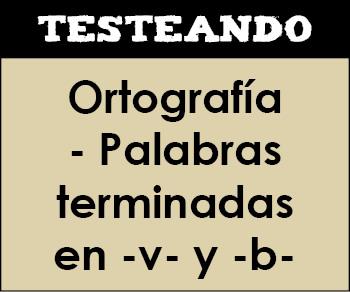 Ortografía - Palabras terminadas en -v- y -b-. 4º Primaria - Lengua (Testeando)