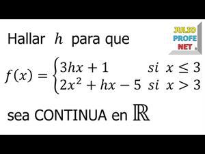 Continuidad de una función a trozos (JulioProfe)