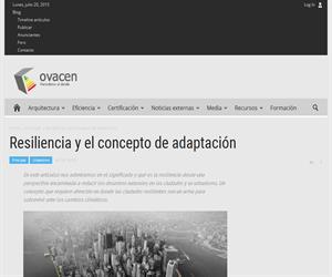 El concepto de resiliencia y su adaptación a las ciudades