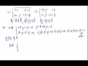 Puntos y vectores de rectas dadas en forma impícita (en 3D)