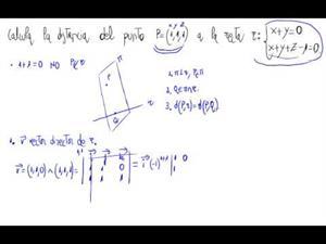 Distancia de un punto a una recta (Sin fórmula)