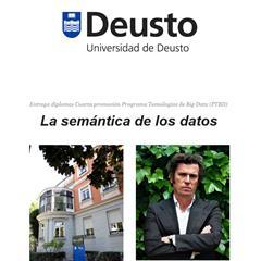 La semántica de los datos protagonista en la entrega de diplomas de la Universidad de Deusto, de la mano de Ricardo Alonso Maturana