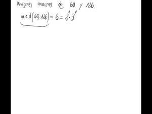 Cálculo de divisores comunes de números