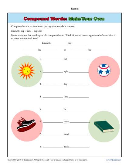 Compound Words: Make Your Own