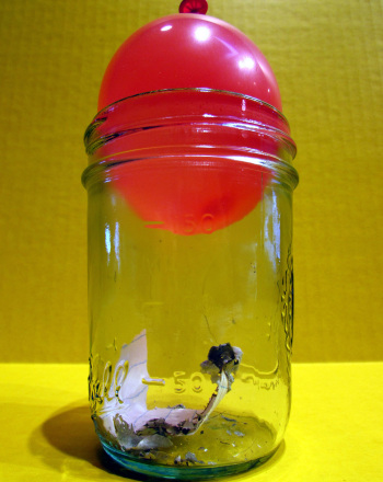 Air Pressure Science Experiment: Balloon and a Jar
