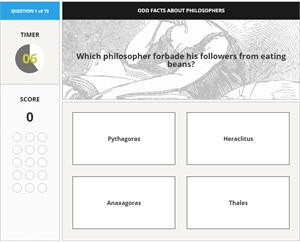 Quizz: Odd facts about philosophers (Britannica.com)