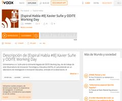 Espiral Habla:  Xavier Suñé nos habla de ODITE Working Day