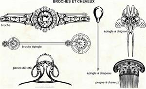 Broches et cheveux (Dictionnaire Visuel)